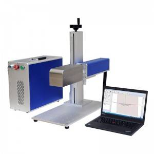 CE Certificate Raycus Fiber Laser Marker 20w 30w 50w Fiber Laser Marking Machine For Plastic Bottle/ Jewelry/metal
