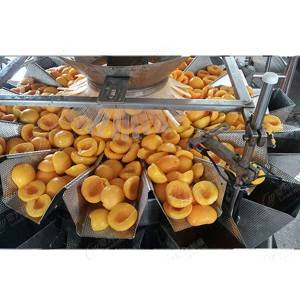 Naka-kahong yellow peach production line