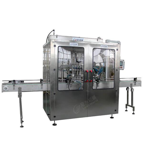 Factory source Fish Canning Sewage Treatment Plant - Automatic Shampoo detergent bottle filling production line – Leadworld Machinery