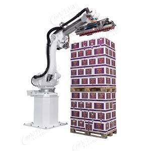 Robot carton palletizing system