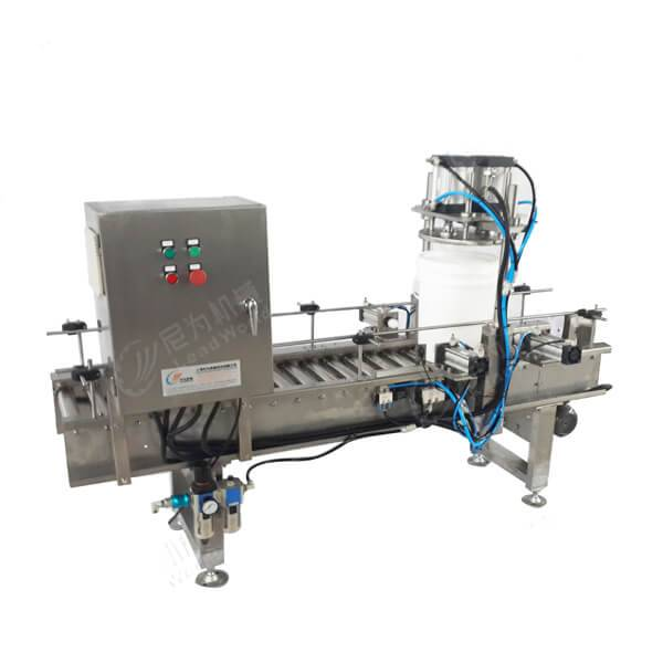 Chinese Professional Automatic Granule Tin Can Filling Machine - automatic barrel lid pressing sealing machine – Leadworld Machinery