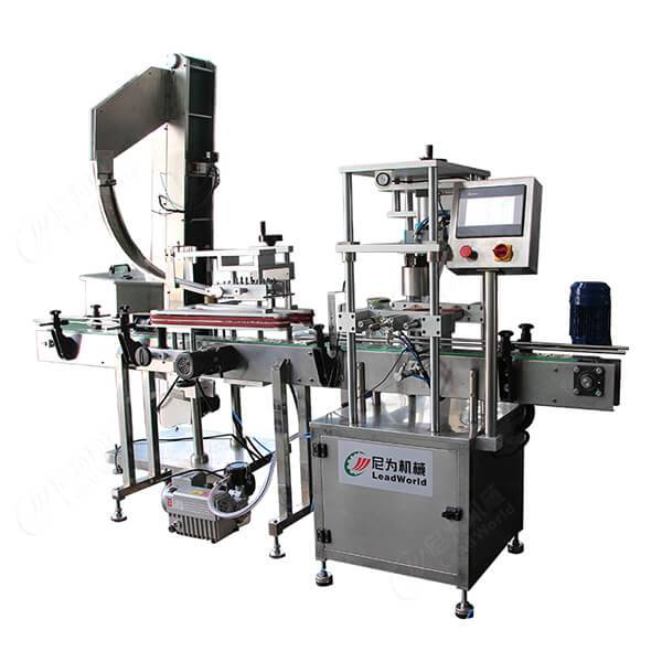 High Quality Orange Juice Bottling Line - automatic glass jar vacuum capping machine – Leadworld Machinery