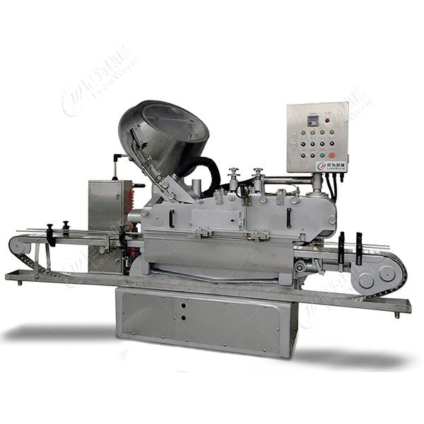 China Manufacturer for Can Sealing Filling Machine - automatic high speed glass jar steam vacuum capping machine – Leadworld Machinery