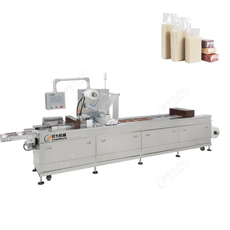 Massive Selection for Automatic Canning Machinery - rice vacuum stretch film packing machine – Leadworld Machinery