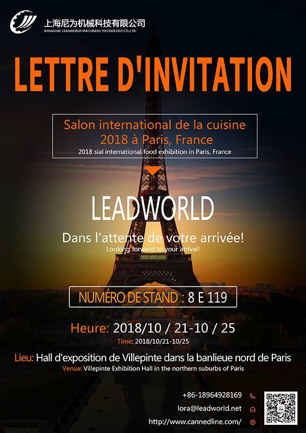 2018 SIAL international mad udstilling i Paris, Frankrig