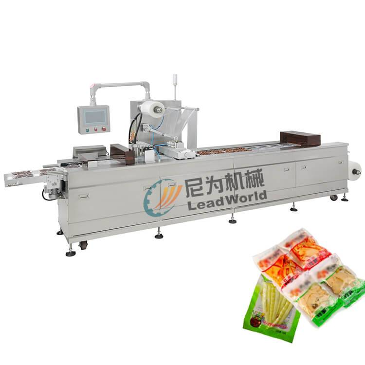 OEM Manufacturer Automatic Fish Production Line - leisure bean dried bamboo shoots vacuum stretch film packaging machine – Leadworld Machinery