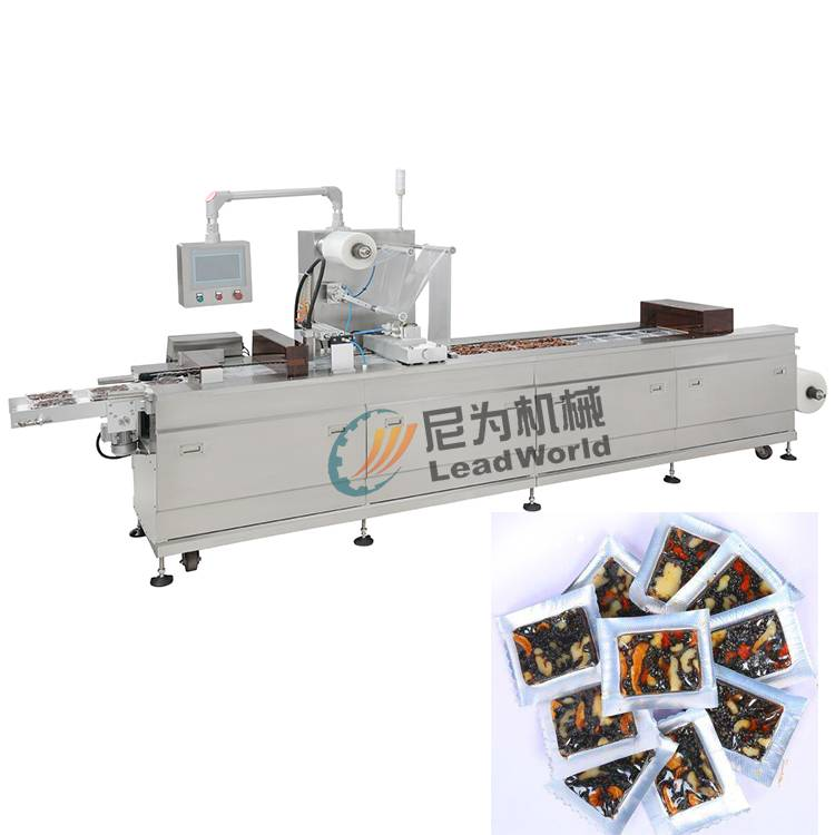 China Supplier Top Level Brown Striped Kraft Paper Bag - Ejiao cake vacuum stretch film vacuum packing machine – Leadworld Machinery