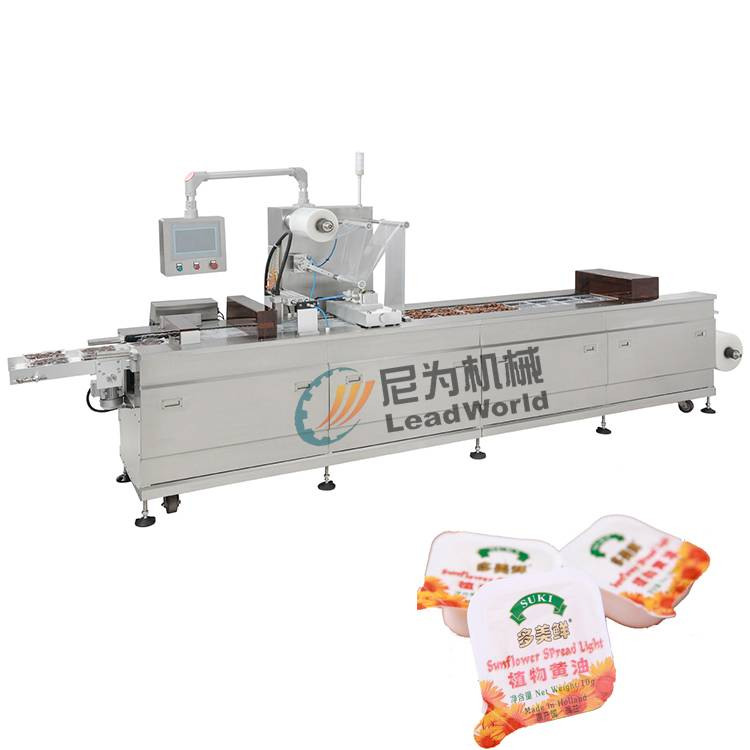 China Manufacturer for Rotary Type Cup Filling And Sealing Machine - butter vacuum stretch film packaging machine – Leadworld Machinery