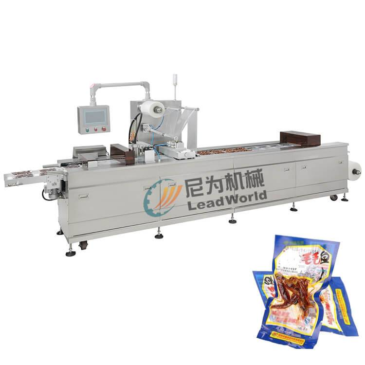 New Delivery for Canned Mandarin Orange Juice Production Line - leisure fish canned vacuum Stretch film packaging machine – Leadworld Machinery