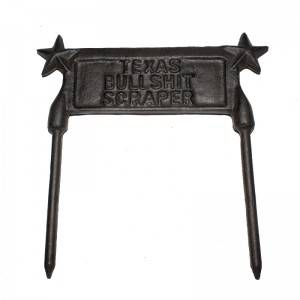 cast iron foot  scraper  garden ornaments