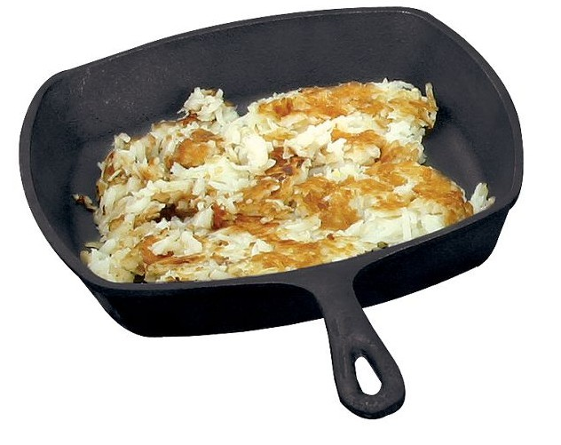 Cast-Iron Flat-Bottom Square Skillet