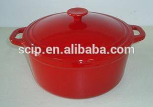 LFGB red enamel round cast iron pot
