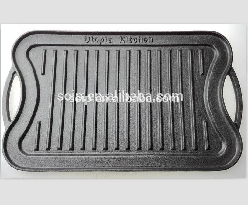 factory supply cast iron griddle pan
