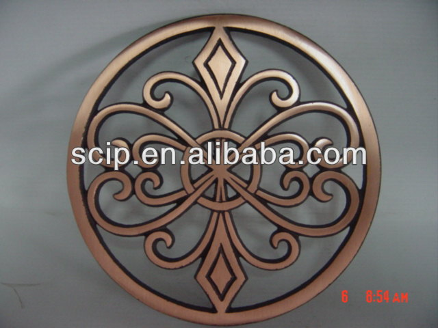 Decorative Wrought Cast Iron Round Table Trivet