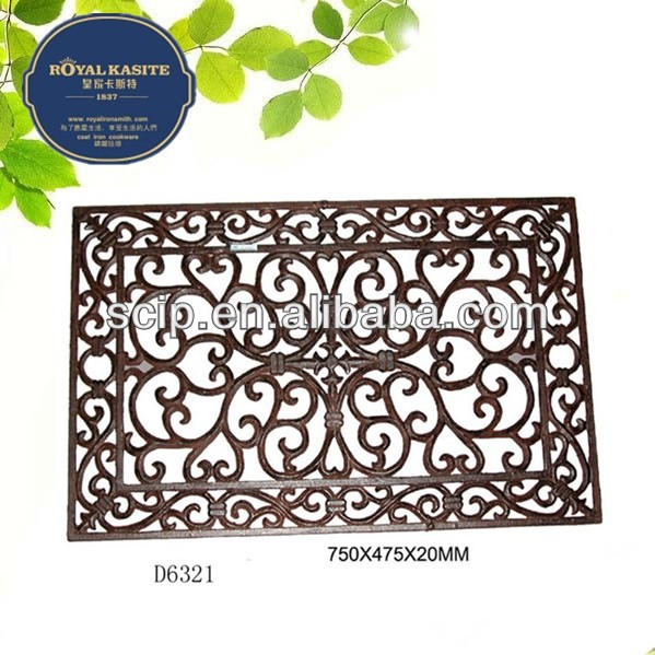 square cast iron door mat for garden decoration