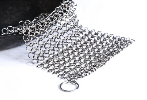 cast iron cookware cleaner/cast iron cleaner net/premium stainless steel chainmail scrubber