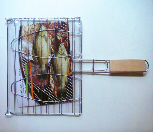 two fish grill mesh,iron BBQ Charcoal Grill factory supply