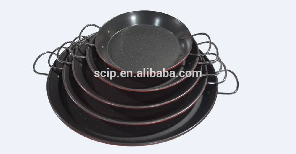 nice look non-stick carbon steel paella pan