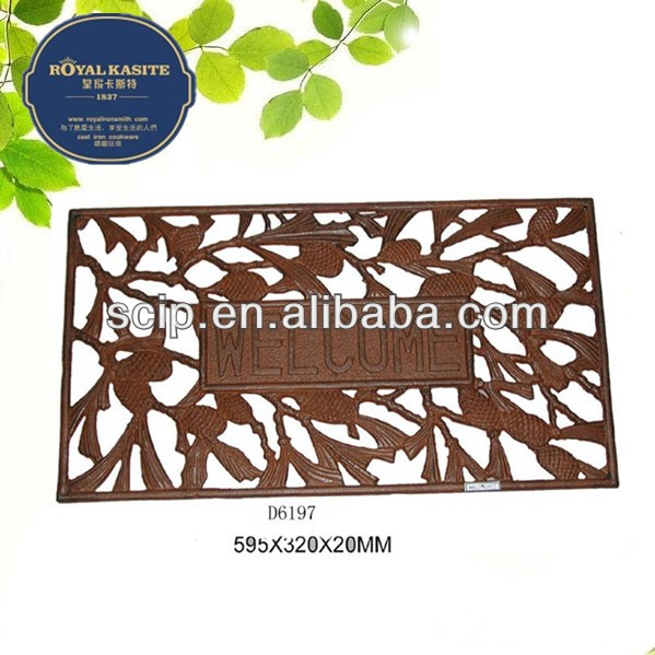 cheap cast iron door mat with welcome signs for garden