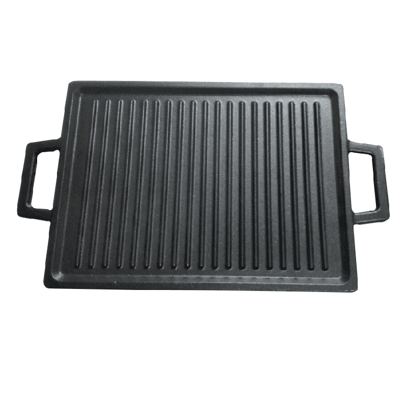 factory supply cast iron griddle square pan