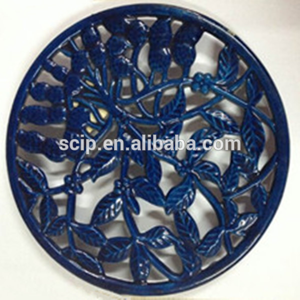 Cast iron powder coated trivet/Cast iron table mat