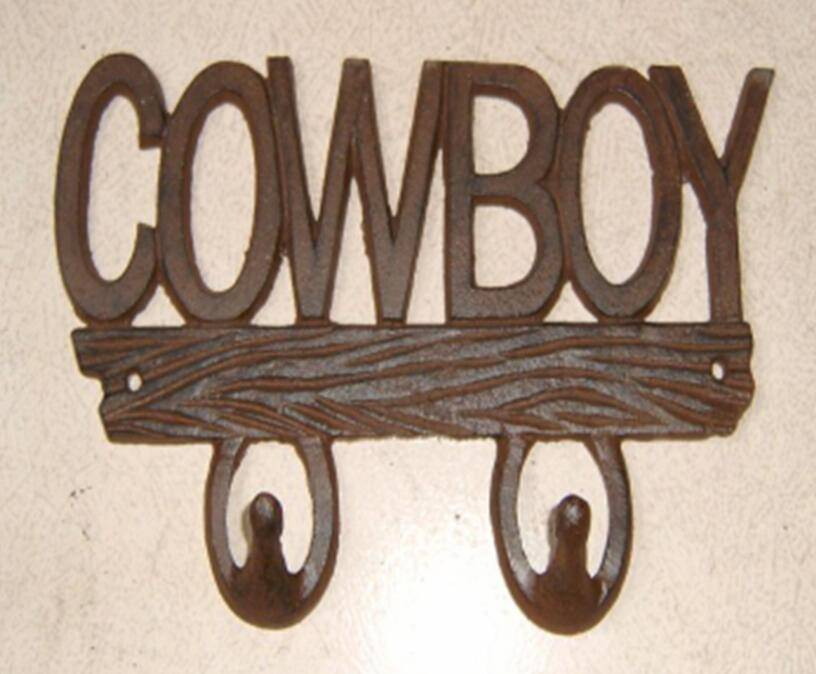 cast iron coat hook cowboy style cast iron hanger