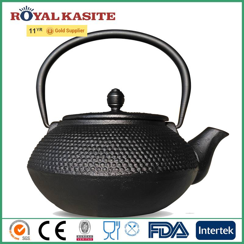 pre-seasoned Custom chinese luxurious cast iron thick teapot with Tea Strainer