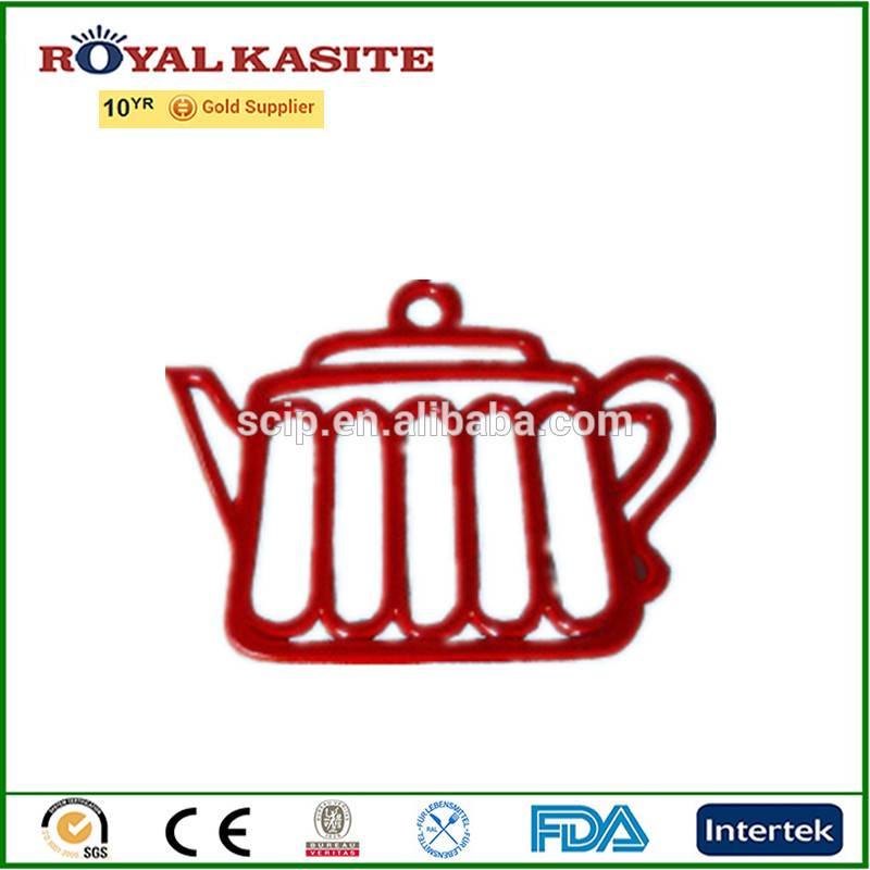 high quality enamel cast iron trivet with teapot shape