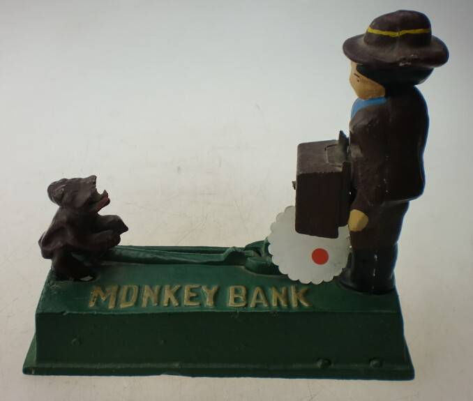 antique hot sale cast iron money money bank