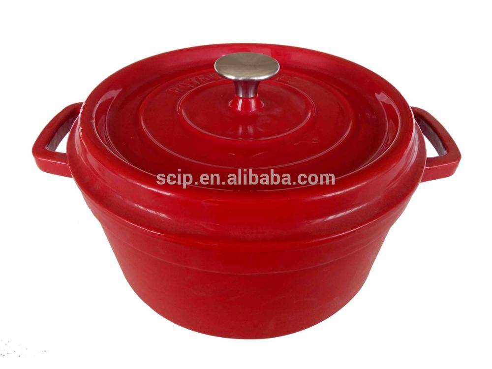 Cookware Dish Hot Pot Utensil Cast Iron Enamel Casserole
