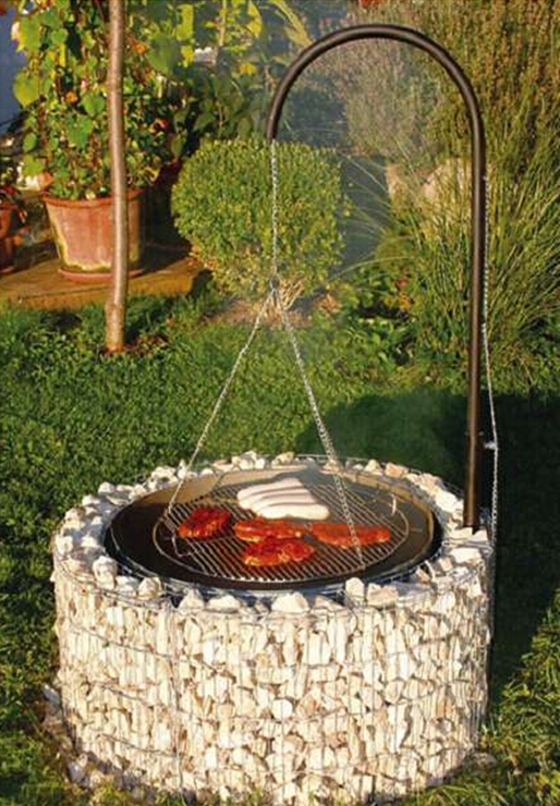 round BBQ grill gabion grill Featured Image