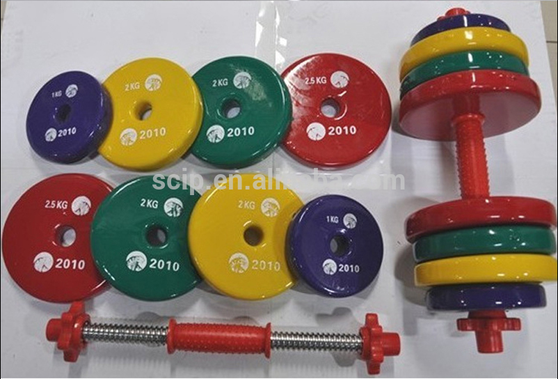 commercial use weight lifting urethane coated dumbbell for sale