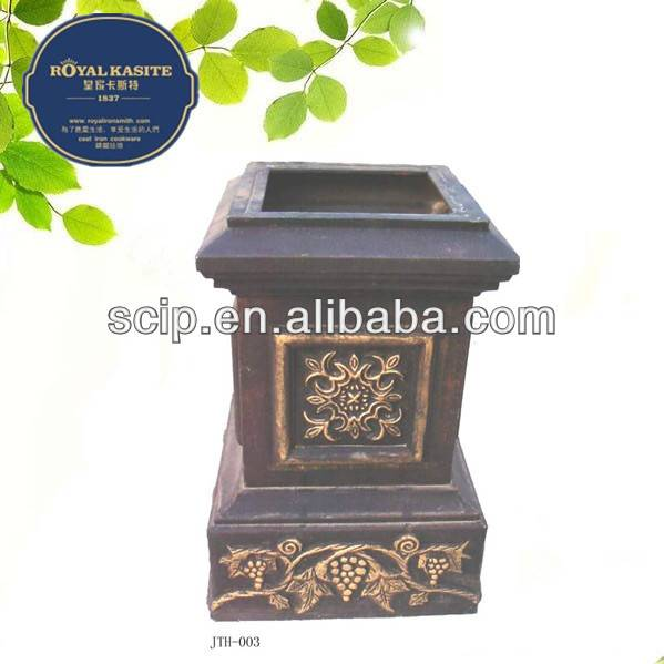 beautiful square shape cast iron flower planter