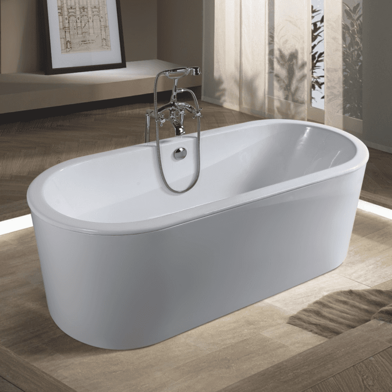 hot white color acrylic freestanding bathroom tub