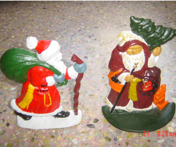 high quality Father Christmas cast iron door stop