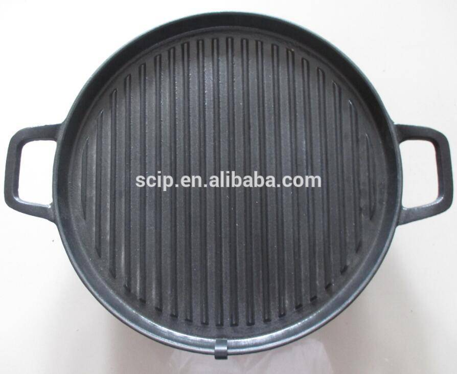 preseasoned round cast iron griddle pan with handle cast iron fry pan cast iron skillet