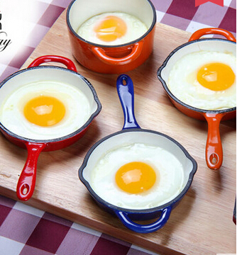 hot sale color enamel cast iron skillet