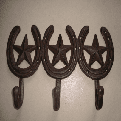 cast iron coat hook with 3 stars cast iron hanger