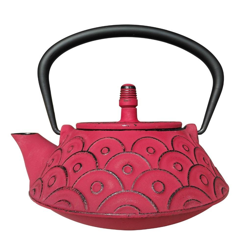 Royal Kasite cast iron teapot, red spray pattern in 0.9 L capacity, sales well on Amazon