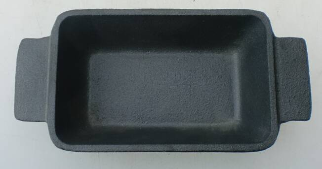 Hot sale high quality FDA certification preseasoned cast iron rectangular mini dish
