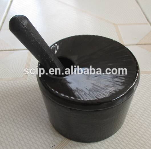 2016 hot sale cast iron mortar and pestle