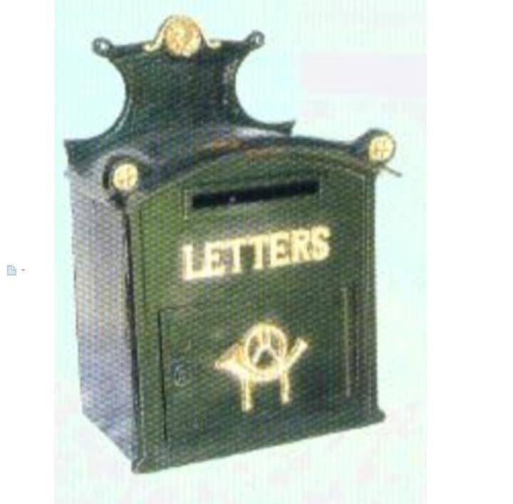beautiful cast iron green mailbox cast iron letter box