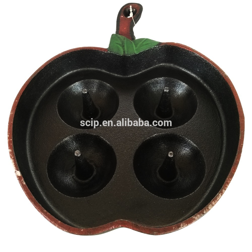 factory supply cast iron apple baker pan grill pan