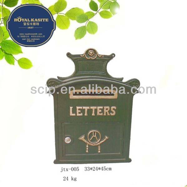 antique cast iron letter box us mail