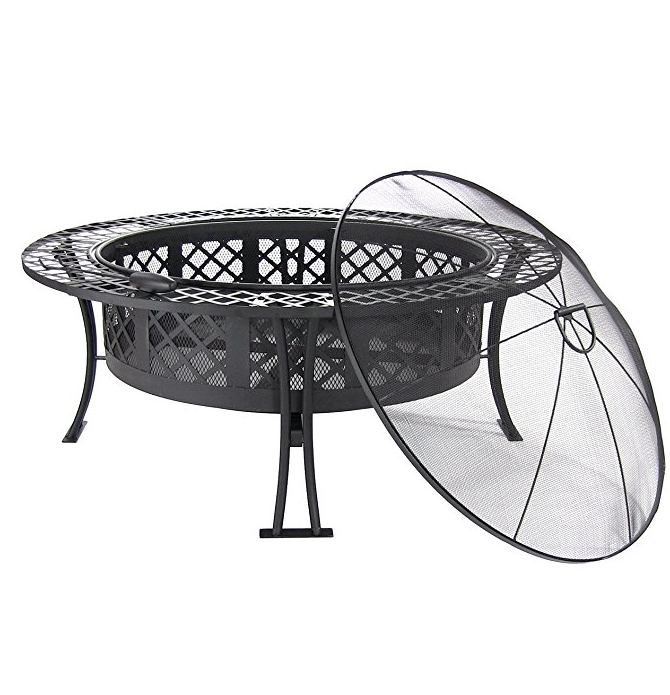 Fire Pit with Spark Screen 40 inch