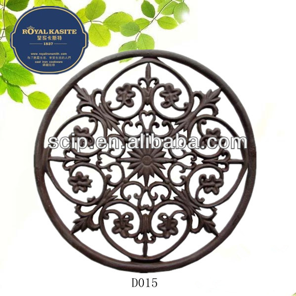 high quality round Cast Iron Door Mat Rectangular style