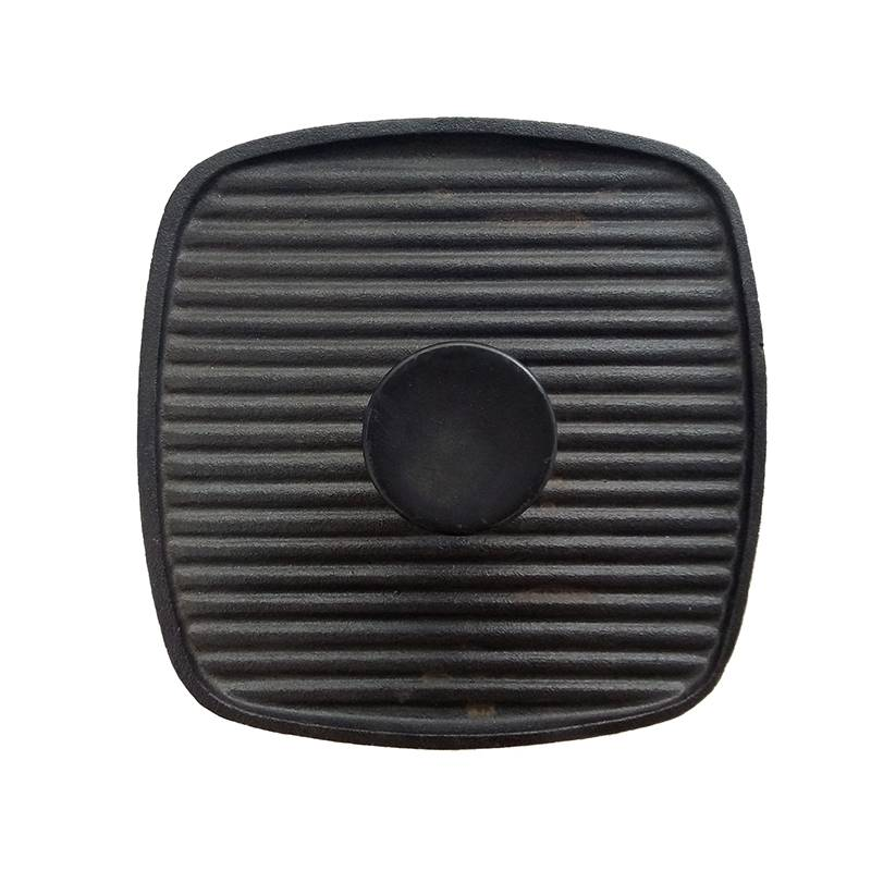 Heavy Barbecue Tool Square Shape 7×7 inch Cast Iron Bacon Press