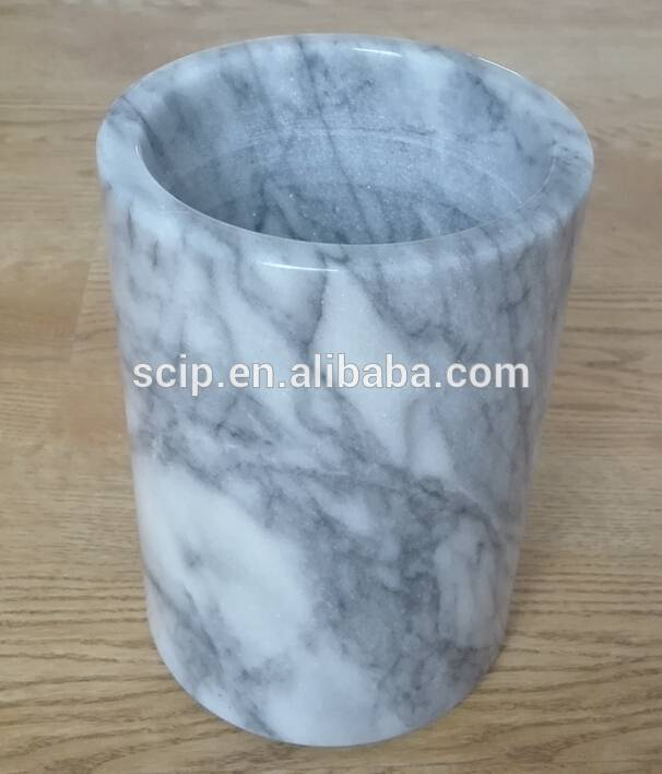 marble utensil holder