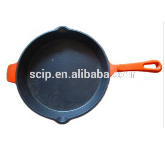 "10"" new pattern induction cast iron enamel fry pan skillet cookware"
