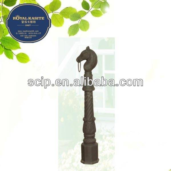 OEM ODM horse head stake horse post cast iron material HS-S-4